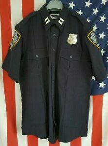 US POLICE UNIFORM - HEMD, NEU, Farbe: Dunkelblau, DARKBLUE, SIZE: 2XL
