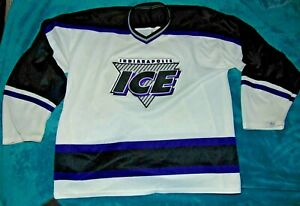 Vintage Indianapolis Ice IHL Bauer Hockey Sewn Jersey Men's L-XL (50)