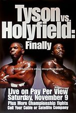 MIKE TYSON vs. EVANDER HOLYFIELD (1): Original Closed Circuit Boxing Poster