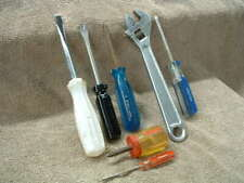 7 Hand Tools Screwdrivers And Adjustable Crescent Wrench All Made In Usa