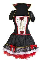 Queen of Hearts Fancy Dress Costume Fairy Tale Ladies 6 8 10 12 14 16 woman