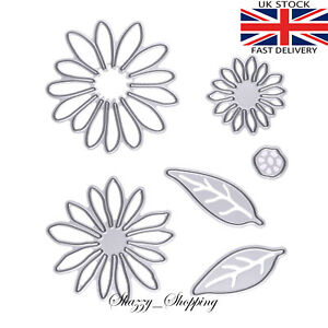 6 piece Daisy Chrysanthemum foamiran Flower Die Set metal cutting die cutter UK