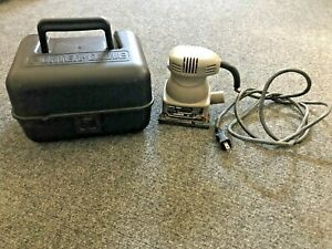 Porter Cable Model 340 1/4 Sheet Sander W/ Case Made In USA - Tested Works