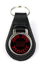 Triumph TR7 Spider Logo Quality Black Leather Keyring