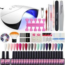 COSCELIA 8ml Gel Nagel Design Kit 20pcs Gel Nagellack Set Gel Nails Starter Set