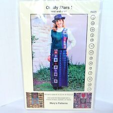Mary's Patterns Oh My Stars! Hearts Baskets Women's Vest Skirt Quilt Sewing 8-22