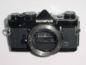 Olympus OM-1N 35mm Film SLR Manual Camera Body - Black