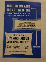 BRIGHTON and Hove Albion v Watford football programme 1965-66 division 3