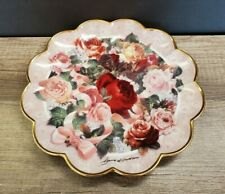 Franklin Mint Victorian Rose Bouquet Collector Plate Signed Plate No. Ha3460