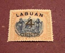 Labuan Stamp Scott# 92a  Postage and Revenue 1899 MH C297