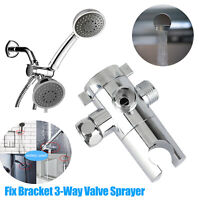 3-way Diverter Valve Spray Adjustable Shower Head Bath Tap Switch Outlet Adapter