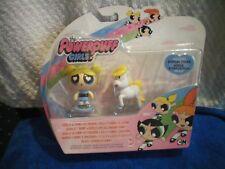 Las Chicas Superpoderosas Estatuilla De Juguete burbujas & Donny el Unicornio con soporte de exhibición. nuevo