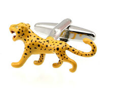 Men's Cufflinks Leopard Yellow Cuff links 28mm  3955