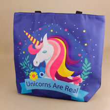 Unicorn Blue Tote Bag Beach Reusable Shopping Nappy Bag Picnic Unicorns Are Real