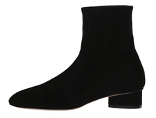 Stuart Weitzman Quebec Womens Black Suede Ankle Boot Sz 10 7725