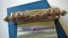 RARE Antique Kirby Beard & Co Victorian needle pin scroll case