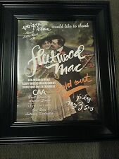 Fleetwood Mac Rare Little Rock, Arkansas Concert Promo Ad ! Printed Once!