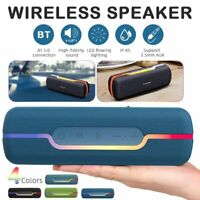 Portable Bluetooth 5.0 Wireless Speakers Waterproof Outdoor Subwoofer FM Radio