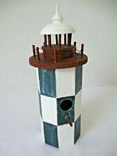 "Decorative Birdhouse Wooden Tabletop Home Decor Lighthouse 10 3/4"" High"