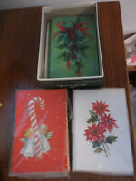 27 NEW NEVER USED VINTAGE HALLMARK & FORGET ME NOT CHRISTMAS CARDS & ENVELOPES