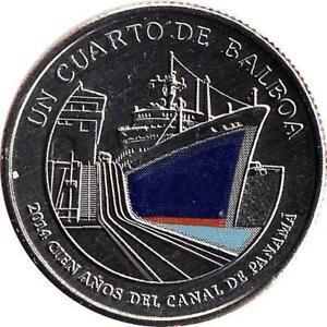 """Panama 1/4 Balboa 2016 """"Centenary of the Panama Canal in 2014"""""""