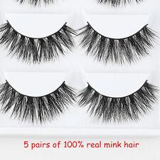 5pairs 100 Mink Natural Thick False Fake Eyelashes Eye Lashes Makeup Extension