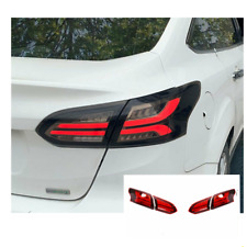 LED Tail Lights For Ford focus 15-18 Sequential Signal Smoke/Red Replace OEM