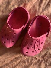 Girls Pink Crocs Size 6 C 7