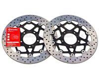 2x Brembo Serie ORO 320mm Front Brake Discs Triumph Daytona T955I 78.B408.73
