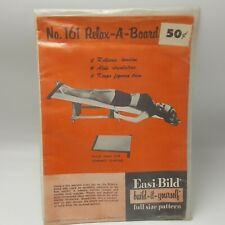 Easi Bild Relax a Board Woodworking Pattern 1952 Full Size USA Easy Build Health