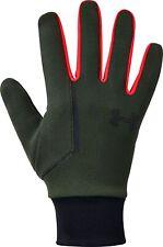 Under Armour Storm Liner Running Gloves Green Ultra Soft Knit Warm Winter Run