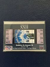 WASHINGTON REDSKINS 1990 Pro Set Super Bowl XXII Ticket Stub  MINT