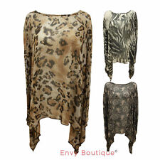 Animal Print Casual Waist Length Tops & Shirts Size Petite for Women