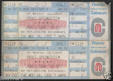 BRUCE SPRINGSTEEN Nassau Coliseum 1992 Complete Concert Tickets reprint
