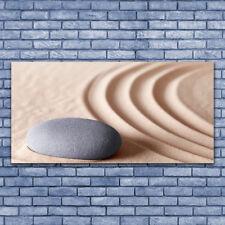 Impression sur verre acrylique Image Tableau 140x70 Art Sable Pierre