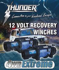 HIGH QUALITY THUNDER 12V 9500lb RECOVERY WINCH REPLACES ARB TJM WARN - TDR02095