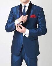 Men Designer Wedding Grooms Tuxedo Dinner Silk Suit Coat Jacket Blazer Trouser
