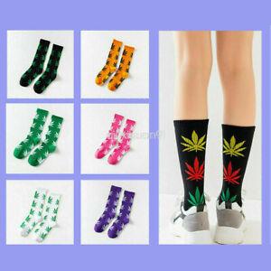Weed Huf Socks Leaf Leaves Plantlife Marijuana Cannabis Womens One Size Stocking