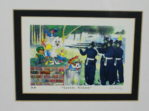 Nelson De La Nuez -  Cereal Killers - 1999 - Mixed Media Signed Print Matted