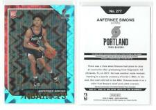 ANFERNEE SIMONS Teal Explosion 2018-19 Hoops #277 Parallel Rookie Card Quantity!