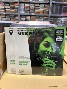 RUSS MEYER'S VIXEN LP NEON GREEN VINYL SEALED 2021 USA ORIGINAL MOTION PICTURE