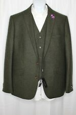 Asos Men's Textured Green Donnegal 3 Piece Suit - Gianni Feraud | US 46R NWT