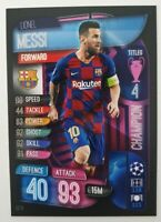 2020 Match Attax Extra UEFA Champions - Lionel Messi Champion Card Barcelona