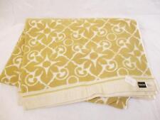 Unused! Vintage 1960's Delorme Bath Towel Gold Baroque Retro Pattern Mid Century