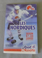 Original NHL Quebec Nordiques 1987-88 Official Hockey Schedule