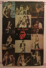 Vintage Rolling Stones In Concert Poster Pin-up Photo Collage 70s Pictures Retro