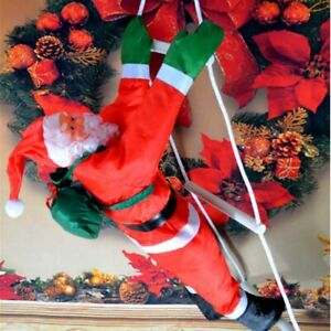 15.7inch Outdoor Climbing Santa with Rope Ladder Xmas Christmas Tree Decoration