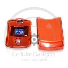 PREMIUM CRYSTAL RED Protective Case for Motorola RAZR V3 /V3c