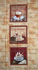 "23"" Fabric Panel - Cafe au Lait Coffee Espresso Block Beige - Benartex Kanvas"