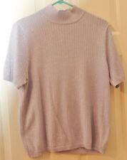 KORET Lavender/Purple Knit Short Sleeve Sweater - Glitter - Size L- EUC